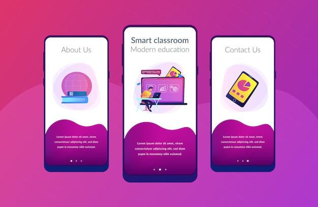 Modelo de interface de aplicativo de aprendizado digital.