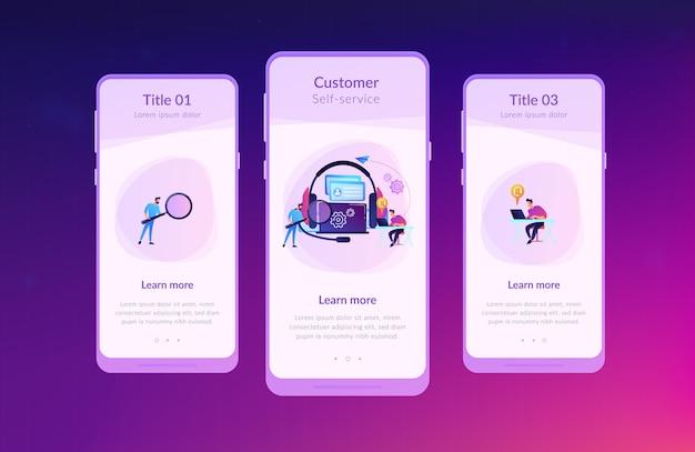 Modelo de interface de aplicativo de autoatendimento do cliente