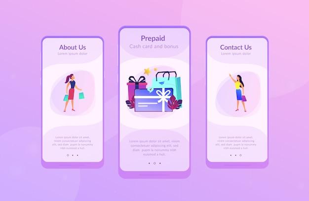 Modelo de interface de aplicativo de cartão presente.
