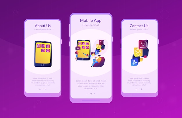 Modelo de interface de aplicativo de desenvolvimento de aplicativos móveis