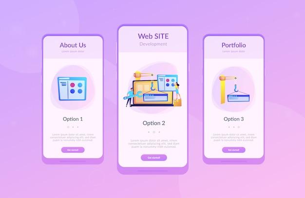 Modelo de interface de aplicativo de desenvolvimento web