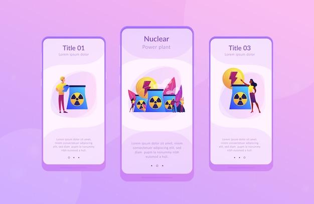 Modelo de interface de aplicativo de energia nuclear.