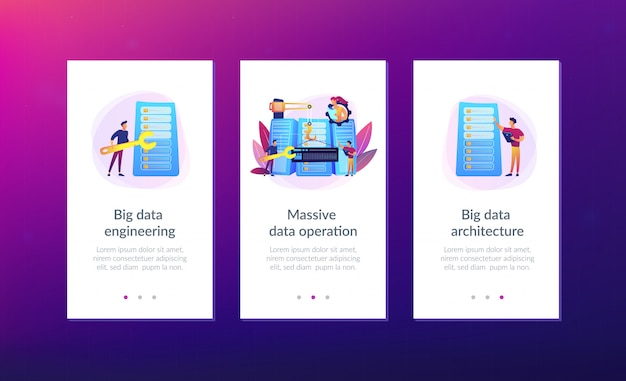 Modelo de interface de aplicativo de engenharia de big data.