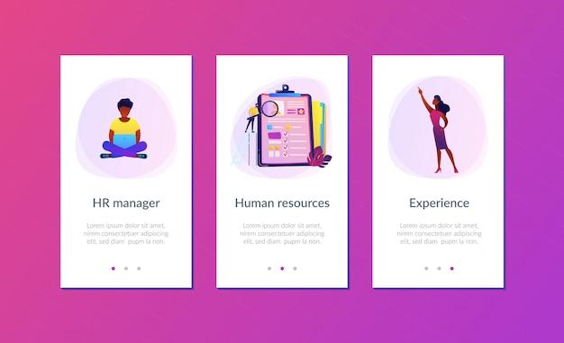 Modelo de interface de aplicativo de entrevista de emprego.