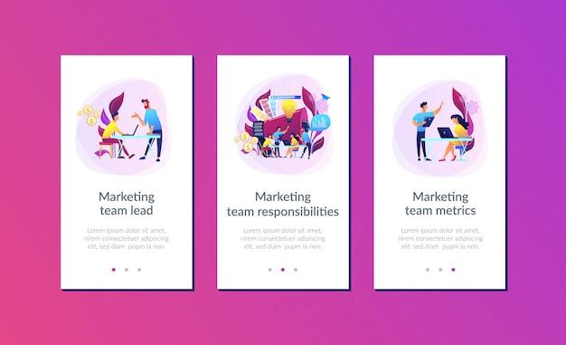 Modelo de interface de aplicativo de equipe de marketing digital