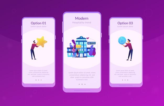 Modelo de interface de aplicativo de estilo de vida hotel.