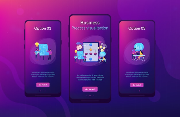 Modelo de interface de aplicativo de gerenciamento de processo de negócios