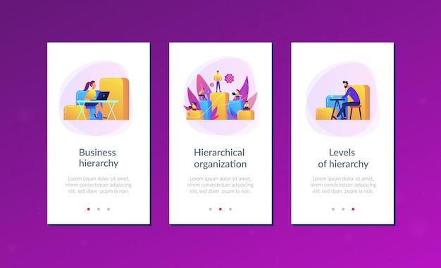 Modelo de interface de aplicativo de hierarquia de negócios