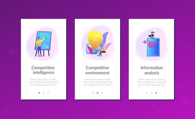 Modelo de interface de aplicativo de inteligência competitiva