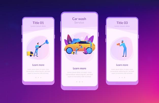 Modelo de interface de aplicativo de lavagem de carro