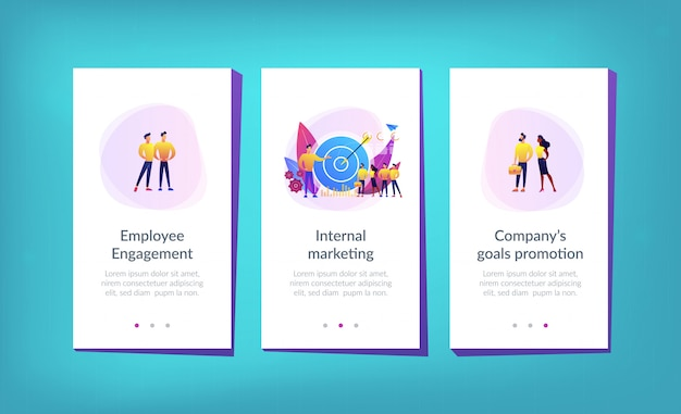 Modelo de interface de aplicativo de marketing interno