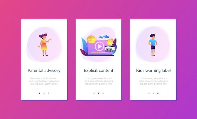Modelo de interface de aplicativo de música consultiva para pais.