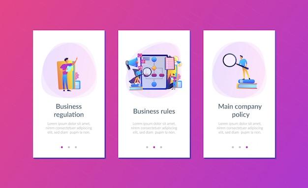 Modelo de interface de aplicativo de regras de negócios
