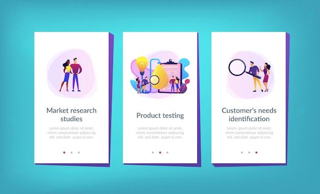 Modelo de interface de aplicativo de teste de produto