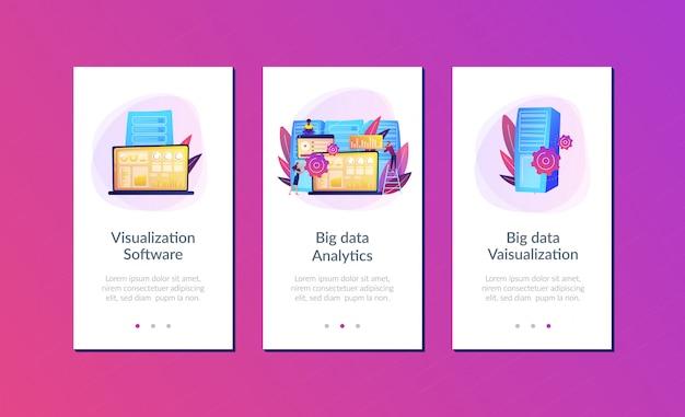 Modelo de interface de aplicativo de visualização de big data.