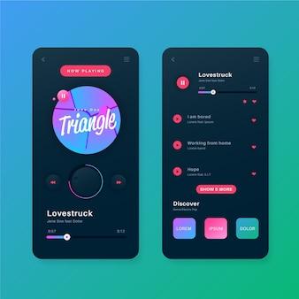 Modelo de interface de aplicativo do music player