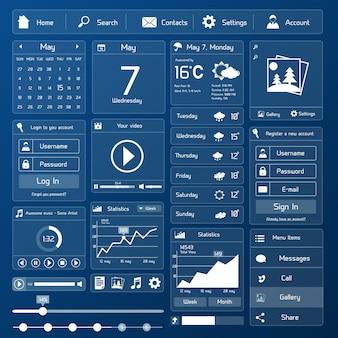 Modelo de interface de usuário plano