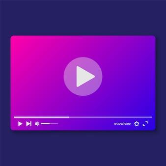 Modelo de interface de vídeo player moderno para nós e aplicativos moile