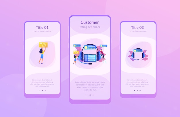 Modelo de interface do aplicativo de feedback do cliente