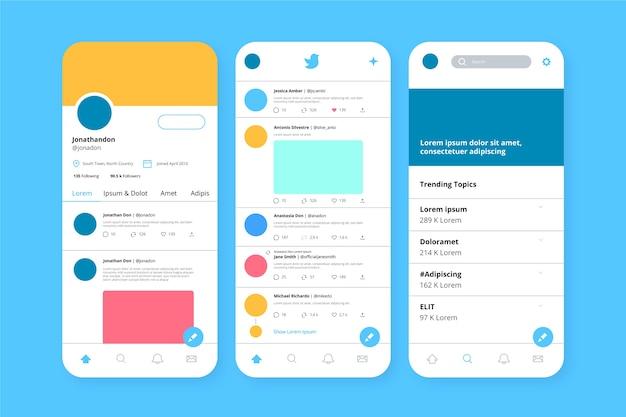 Modelo de interface do twitter