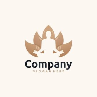 Modelo de ioga de lótus, inspiração para design de logotipo