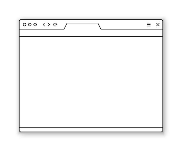 Modelo de janela do navegador colado seu conteúdo nele