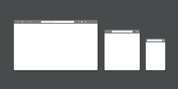 Modelo de janela do navegador da web.