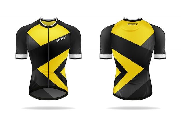 Modelo de jersey de ciclismo de especificação.