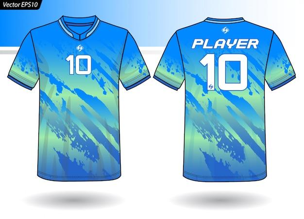 Modelo de jersey de esportes para uniformes de equipe
