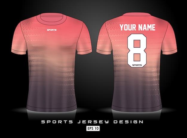 Modelo de jersey de esportes