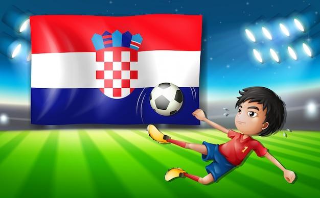 Modelo de jogador de futebol da croácia