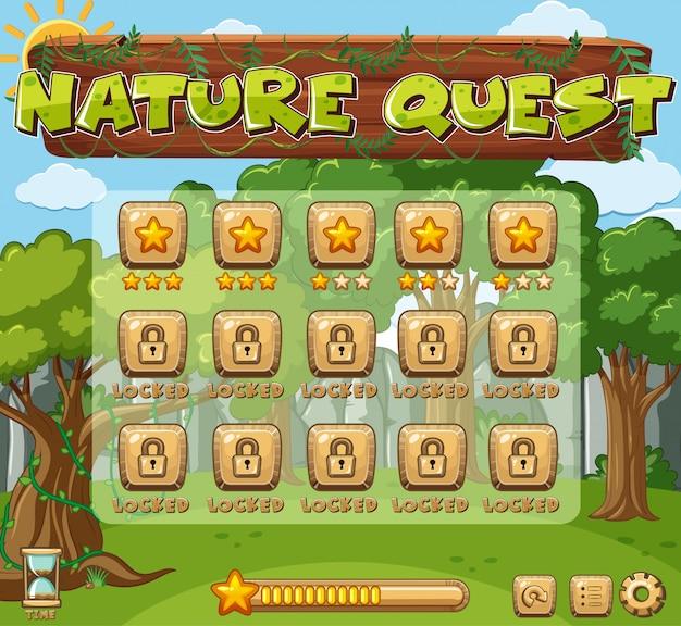Modelo de jogo com árvores verdes
