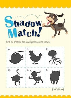 Modelo de jogo com cachorro correspondente