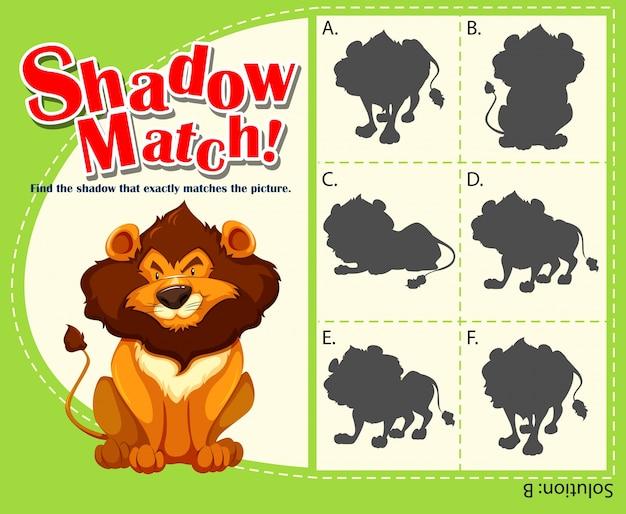 Modelo de jogo com leão correspondente
