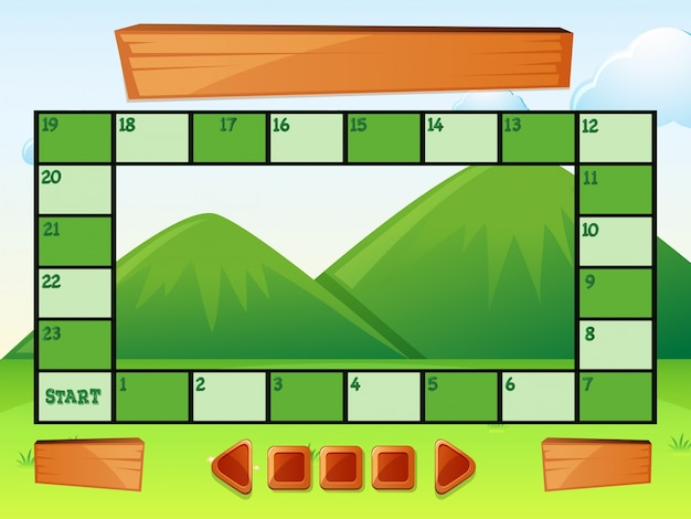 Modelo de jogo com montanhas em segundo plano