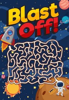 Modelo de jogo com muitas estrelas no fundo do espaço