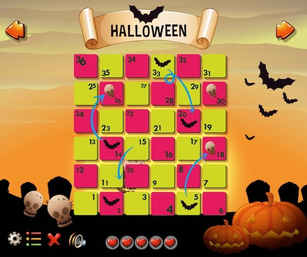Modelo de jogo com tema de halloween