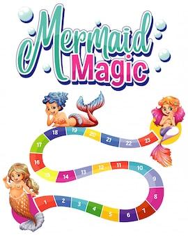 Modelo de jogo com três sereias e números