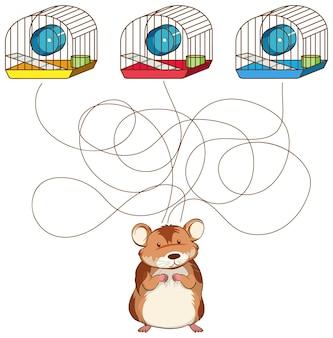 Modelo de jogo de labirinto de desenho bonito