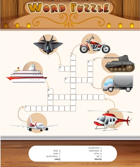 Modelo de jogo de quebra-cabeça com transportes