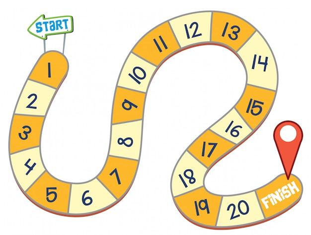 Modelo de jogo de tabuleiro simples