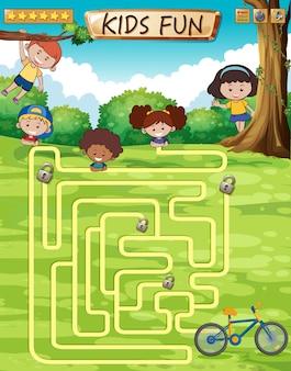 Modelo de jogo divertido de crianças