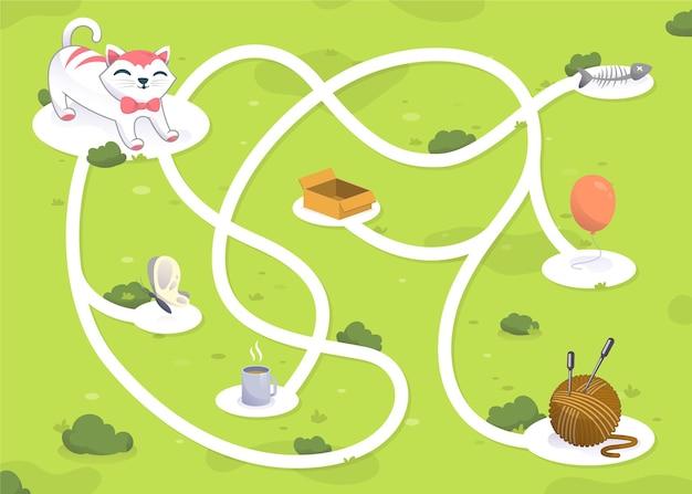 Modelo de labirinto para crianças