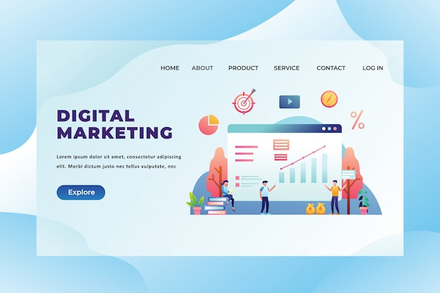 Modelo de landing page de marketing digital