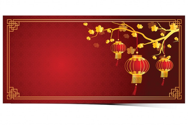 Modelo de lanterna chinesa