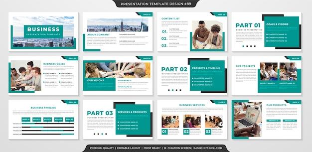 Modelo de layout de apresentação de negócios