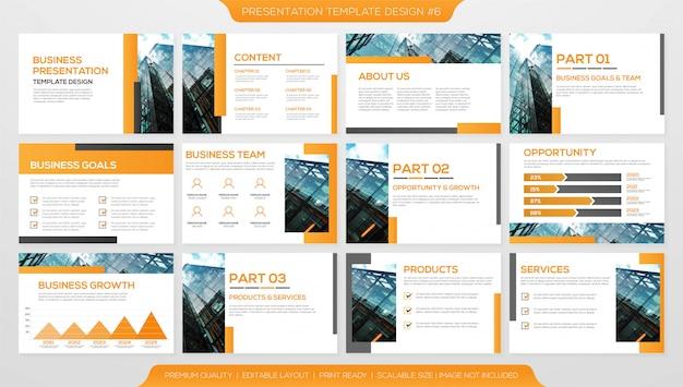 Modelo de layout de apresentação