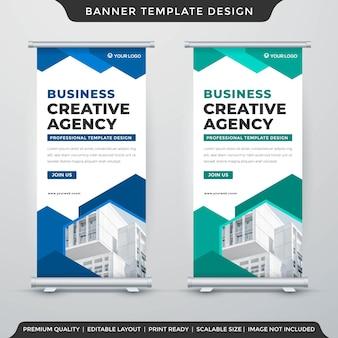 Modelo de layout de banner de suporte minimalista estilo premium