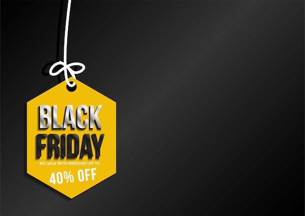 Modelo de layout de banner de venda sexta-feira negra