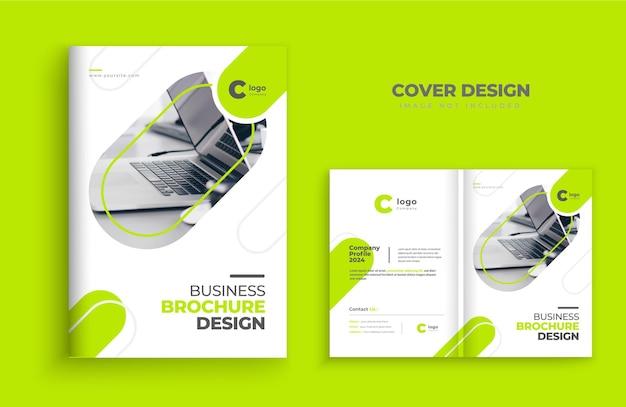 Modelo de layout de capa de brochura design de modelo de perfil de empresa capa do design de capa de livro